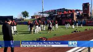 News video: Giants Warming Up, Play Cincinnati This Afternoon