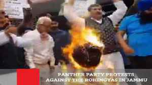 News video: Panther Party Protests Against The Rohingyas In Jammu