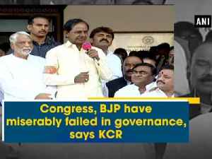 News video: Congress, BJP have miserably failed in governance, says KCR