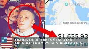 News video: Drunk man's Uber ride home to Jersey turns out to be $1,600 - TomoNews