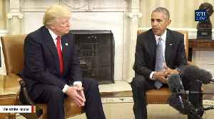 News video: Trump Says Obama Wanted To 'Discredit' Him So 'Crooked' Hillary Would Win
