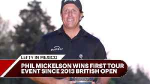 News video: Tour Confidential: Lefty and Wie pick up long-awaited wins