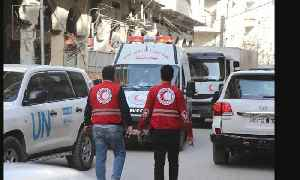 News video: Syria lets aid reach Ghouta but blocks 70 percent of medical supplies