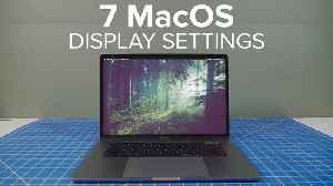 News video: 7 MacOS settings that help you see the display better