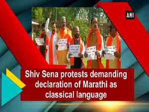 News video: Shiv Sena protests demanding declaration of Marathi as classical language