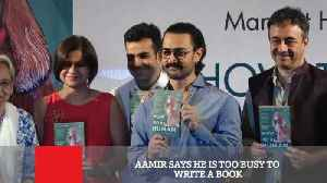 News video: Aamir Says He Is Too Busy To Write A Book