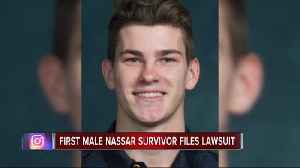 News video: Alleged 1st male victim of Dr. Larry Nassar files lawsuit