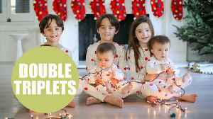 News video: Family defy odds and have two sets of triplets