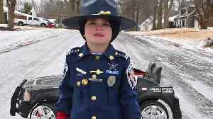 News video: Six-Year-Old 'Police Officer' Shares A Secret To Driving In Bad Weather