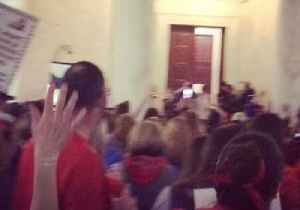 News video: West Virginia Teachers Chant for Senate to Sign Pay Increase Deal