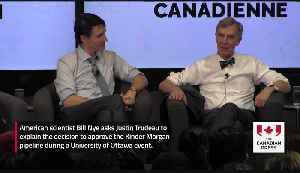 News video: 'Bill Nye the Science Guy' asks Trudeau about Kinder Morgan
