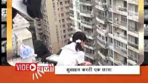 News video: Rescued a school girl while committing suicide in China