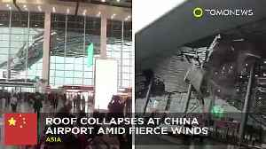News video: Fierce wind tear off China airport's roof as people scream in panic - TomoNews