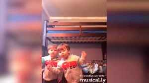 "News video: ""Twin Toddlers Rap Like Pros"""