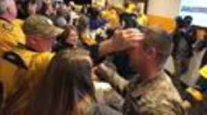 News video: Soldier Surprises Family At Preds Game