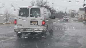 News video: Flooding hits New Jersey as second nor'easter heads for East Coast