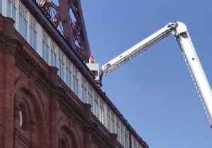 News video: Fire Leaves People Stranded on Top of Blackpool Tower