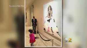 News video: Girl Mesmerized By Obama Portrait Meets Former First Lady