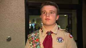 News video: Teen's Eagle Scout project accepted as donation by Henderson