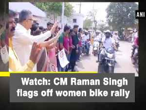 News video: Watch: CM Raman Singh flags off women bike rally