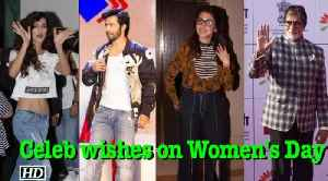 News video: Bollywood wishes on Women's Day