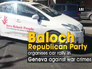 News video: Baloch Republican Party organises car rally in Geneva against war crimes