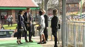 News video: Prince Harry and Meghan visit Coach Core training class