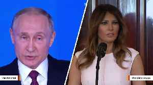News video: Vladimir Putin Talks About The Lie He Told To Melania Trump
