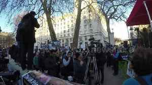 News video: Hundreds gather in London to protest Saudi state vist