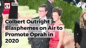 News video: Colbert Outright Blasphemes On Air To Promote Oprah In 2020