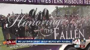 News video: Missouri law enforcement group helping with Clinton officer's funeral