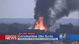 News video: 1 Dead, 1 Missing In Building Under Construction Fire