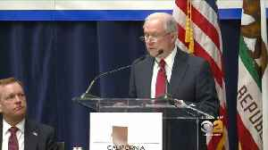 News video: Sessions On Suit Against Calif. Sanctuary State: ICE Agents Unable To Do Their Jobs
