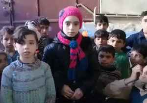 News video: Noor and Alaa, East Ghouta Children, Appear in Pointed Message for US and UN Legislators