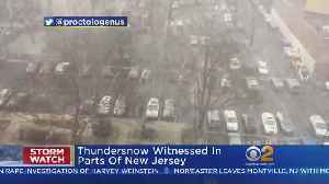 News video: Thundersnow Witnessed In Parts Of New Jersey