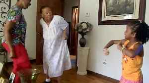 News video: Groovy 94-Year-Old Granny Cannot Stop Dancing