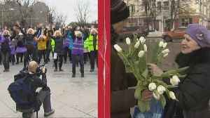 News video: Contrasting International Womens' days in Russia & Spain