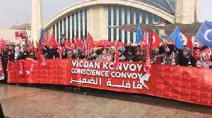 News video: 'Conscience Convoy' sees 10,000 female activists travel to Syria-Turkey border