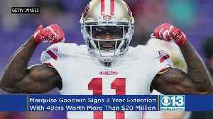 News video: 49ers Sign WR Marquise Goodwin To 3-year Extension