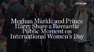 News video: Meghan Markle and Prince Harry Share a Romantic Public Moment on International Women's Day