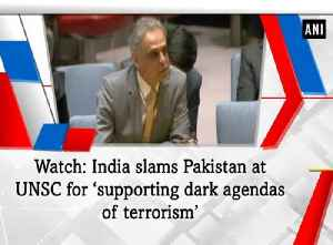 News video: Watch: India slams Pakistan at UNSC for 'supporting dark agendas of terrorism'