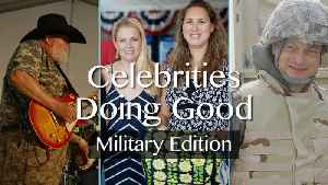 News video: 3 Celebrities Follow Their Passions For Helping Others - Military Edition