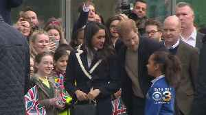 News video: Prince Harry And Meghan Markle Make International Women's Day Appearance
