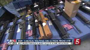 News video: Lawmakers Put Bump Stock Bill On Hold