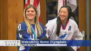 News video: Vadnais Heights Welcomes Home Gold Medal Hockey Champs