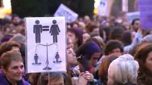 News video: Spain marches for gender equality