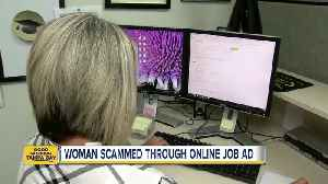 News video: Pinellas County woman warns about online job scams after losing thousands of dollars