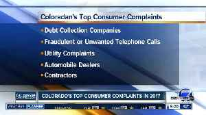 News video: Top consumer complaints in 2017 in Colorado