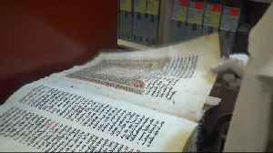 News video: Ancient manuscripts in Iraq saved from ISIL