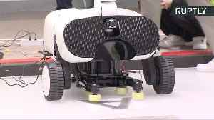 News video: 'Curly' the Curling Robot Loses Game to Humans